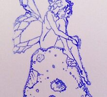 Enchantments Fairy On Mushroom  by Enchantments