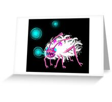 Digital Furry Aphid Greeting Card