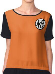 Goku Symbol - Graphic 2-Color Tee Chiffon Top