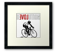 Cycling rEVOLution Framed Print