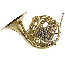 French Horn Invented in England Photographic Print
