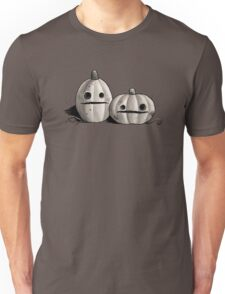 Old Friends - Pumpkins in Black and Grey Unisex T-Shirt