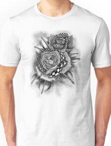 Tattoo Rose Greyscale Unisex T-Shirt