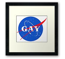 Nasa Gay Pride Logo Framed Print