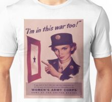 Vintage poster - Women's Army Corps Unisex T-Shirt