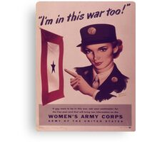 Vintage poster - Women's Army Corps Canvas Print