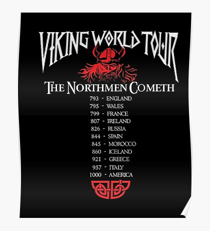 Valhalla Shirt - Vikings Valhalla T Shirt- VIKING WORLD TOUR Poster
