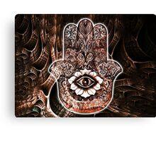 Hamsa Hand Design Canvas Print