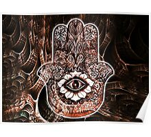 Hamsa Hand Design Poster