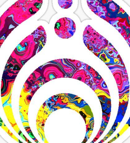 Bassnectar logo- trippy pink background Sticker