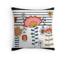 Folk Dance - Stripe Throw Pillow
