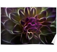 Bright abstract fractal color flower Poster