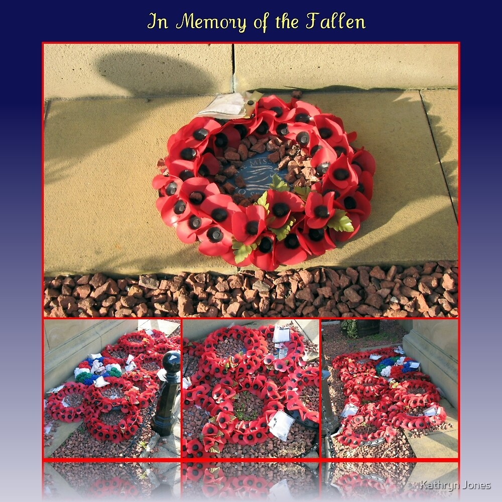 In Memory of the Fallen - A Collage for Remembrance Sunday by Kathryn Jones