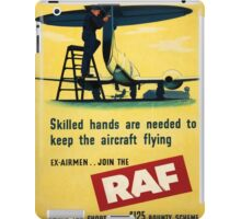 Vintage poster - Royal Air Force iPad Case/Skin