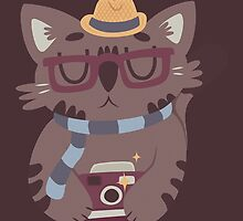 Hipster Cat Vector Design by Claire Stamper
