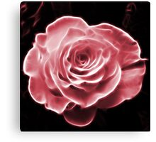 Pink abstract fractal rose flower Canvas Print