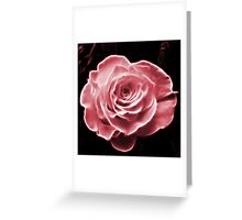 Pink abstract fractal rose flower Greeting Card