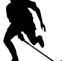 Field Hockey Player Silhouette by kwg2200