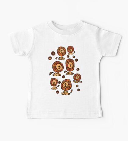 Cute Flower Cartoon Lions by Cheerful Madness!! Baby Tee