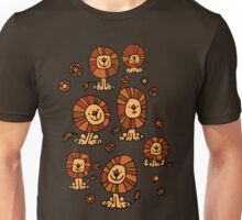 Cute Flower Cartoon Lions by Cheerful Madness!! Unisex T-Shirt