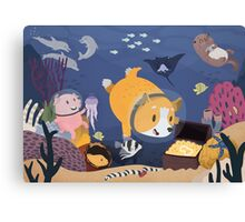 Diving For Treasure Canvas Print