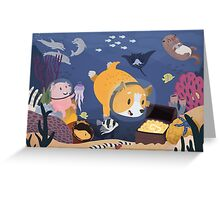 Diving For Treasure Greeting Card