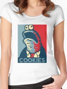 COOKIES we can believe in! Women's Fitted Scoop T-Shirt