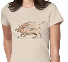 Warthog sketch Womens Fitted T-Shirt