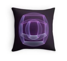 Abstract fractal magic color shape Throw Pillow
