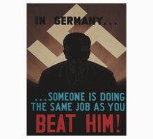 Vintage poster - World War II Propaganda One Piece - Short Sleeve