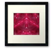Abstract fractal magic red  Framed Print