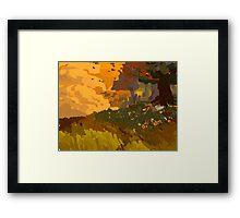 practice landscape Framed Print