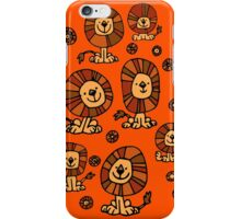 Cute Flower Cartoon Lions by Cheerful Madness!! iPhone Case/Skin