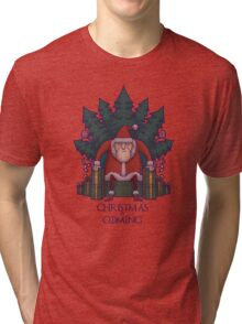 Santa of Thrones: Christmas Is Coming Tri-blend T-Shirt