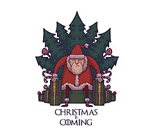 Santa of Thrones: Christmas Is Coming Photographic Print