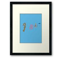 The Butt Framed Print