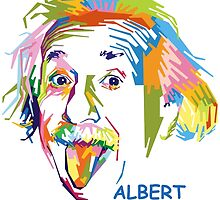 "WPAP - ""Albert Einstein 2"" by hwart"