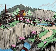 Blossom Village Flyover  by Lunasmoon