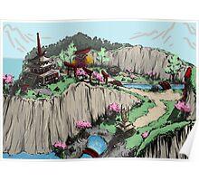 Blossom Village Flyover  Poster