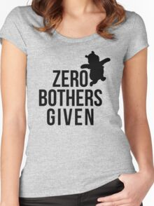 Zero Bothers Given Women's Fitted Scoop T-Shirt
