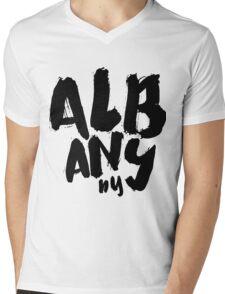 ALBANY Mens V-Neck T-Shirt