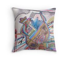 history of humankind on a cosmic level Throw Pillow