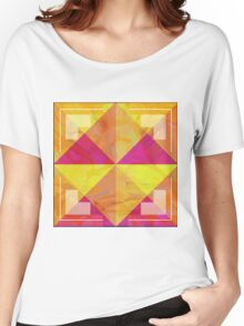 Geometric Marble Women's Relaxed Fit T-Shirt