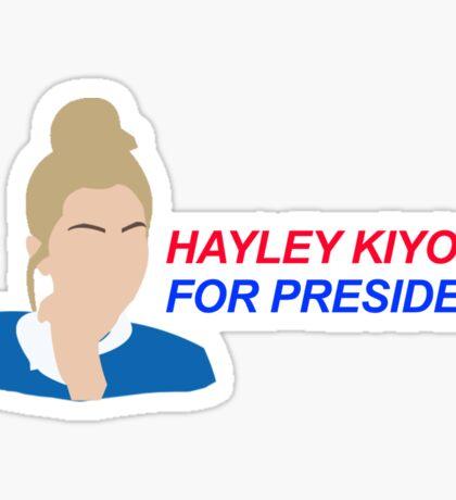 Hayley Kiyoko For President  Sticker