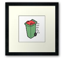 Get in the coloured bin  Framed Print