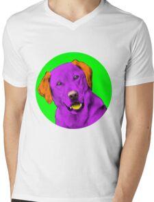 Green Bubble Retriever Pop Art Mens V-Neck T-Shirt