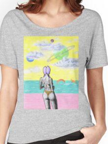 Beach alien bikini babe fantasy sea monster Women's Relaxed Fit T-Shirt
