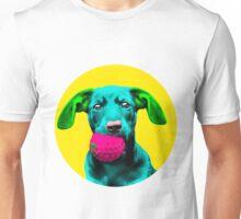 Yellow Bubble Sausage Dog Pop Art Unisex T-Shirt