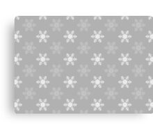 Snowflake Pattern | Grey and White Canvas Print