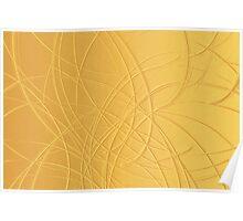 Canvas Art - Digital Background - Gold Poster